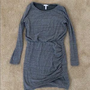 Nordstrom Leith Gray Long Sleeve Casual Dress